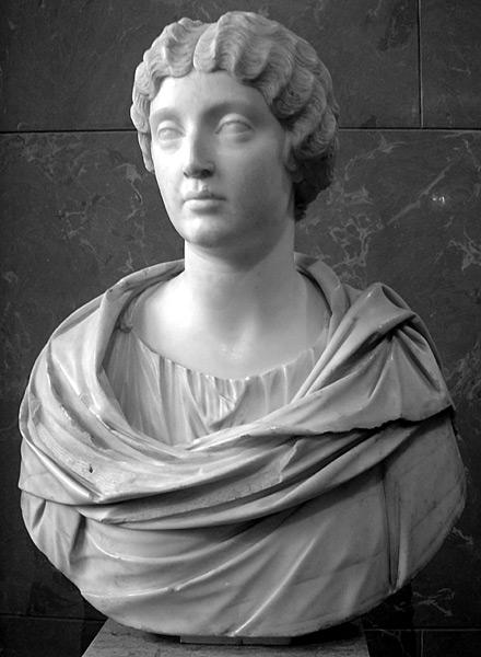 Busto de Faustina la menor, en el Louvre