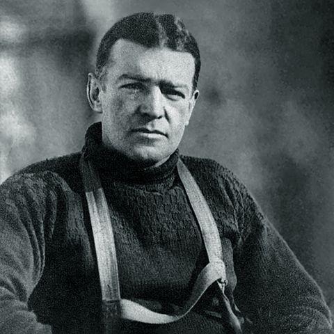 Ernest Shackelton durante la expedición
