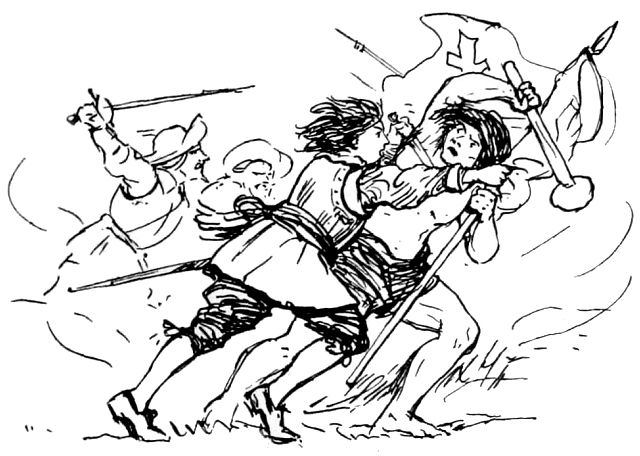 Catalina luchando contra los mapuches