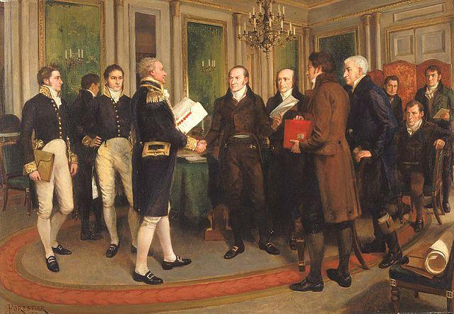 Firma del Tratado de Gante
