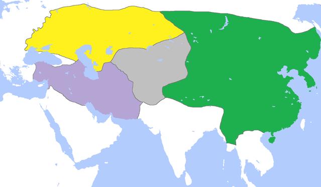 Los cuatro estados mongoles