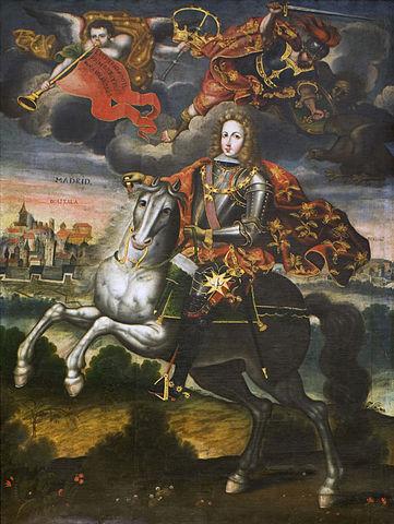 Luís I a caballo (lo ángeles ya debían estar esperándolo)