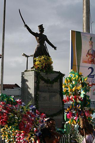 Estatua de María Quitéria en Bahía
