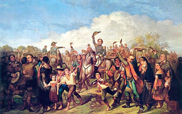 Pedro proclamando la Independencia, cuadro de François-René Moreau