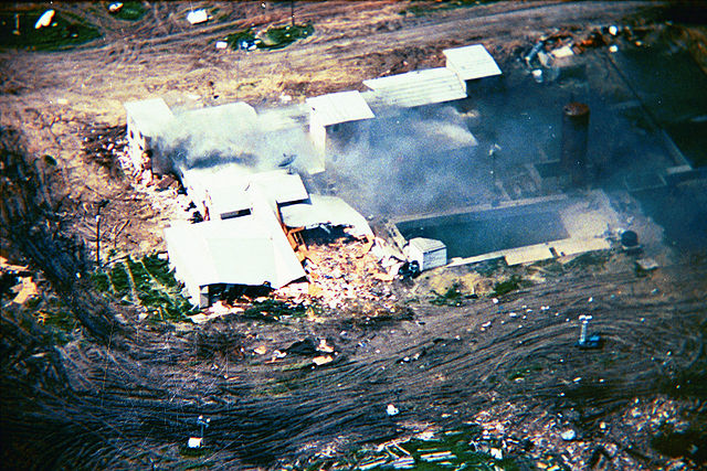 El rancho tras el ataque