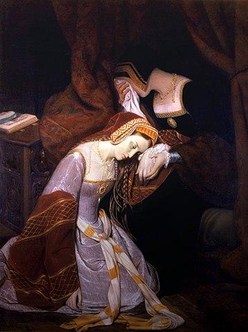 Ana Bolena encerrada en la Torre