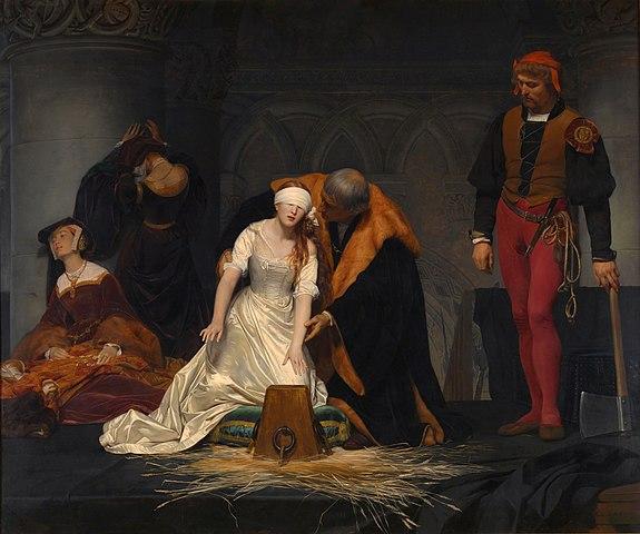 La ejecución de lady Jane Grey de Paul Delaroche