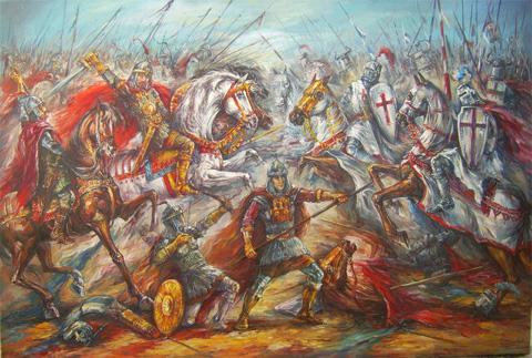 Cuadro sobre la Batalla de Adrianópolis