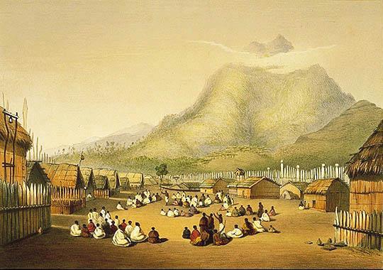 base del Monte Taupiri en Waikato