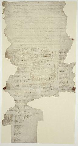 Papel original del Tratado de Waitangi