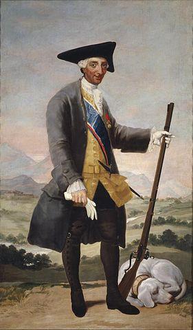 Carlos vestido de cazador, por Goya