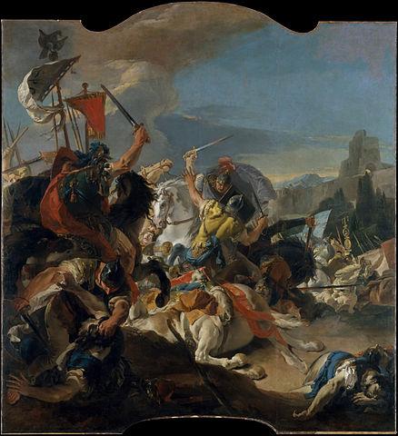 Óleo sobre la Batalla de Vercelae