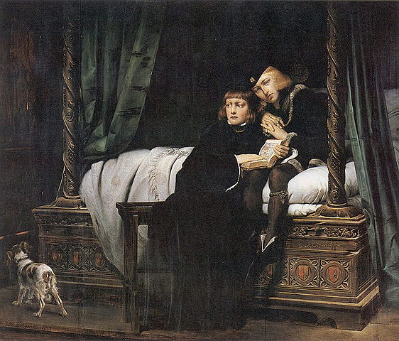 Los príncipes por  Paul Delaroche