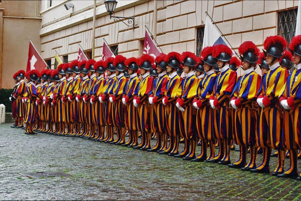 La actual Guardia Suiza, foto sacada de su propio Facebook