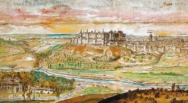 El Alcázar con Madrid al fondo