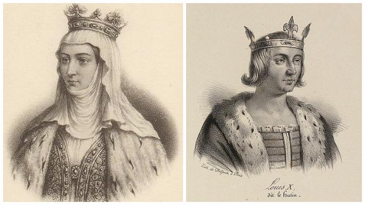Margarita de Borgoña y Luis X