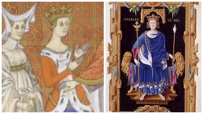 Blanca de Borgoña y Carlos IV el Hermoso