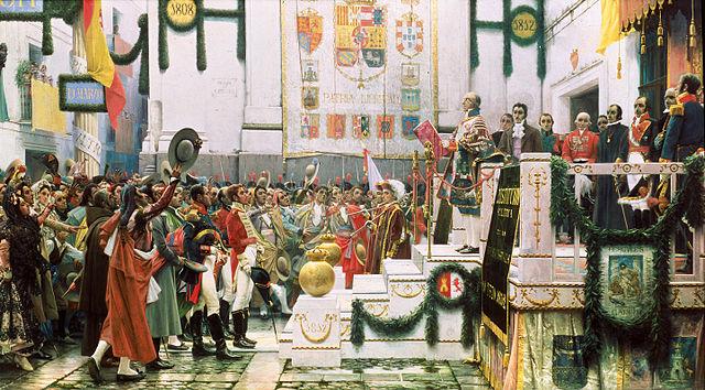 La promulgación de la Constitución de 1812 en Cadiz