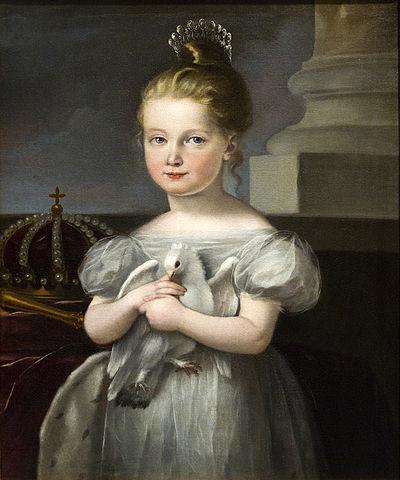 Cuadro de Isabel II de niña