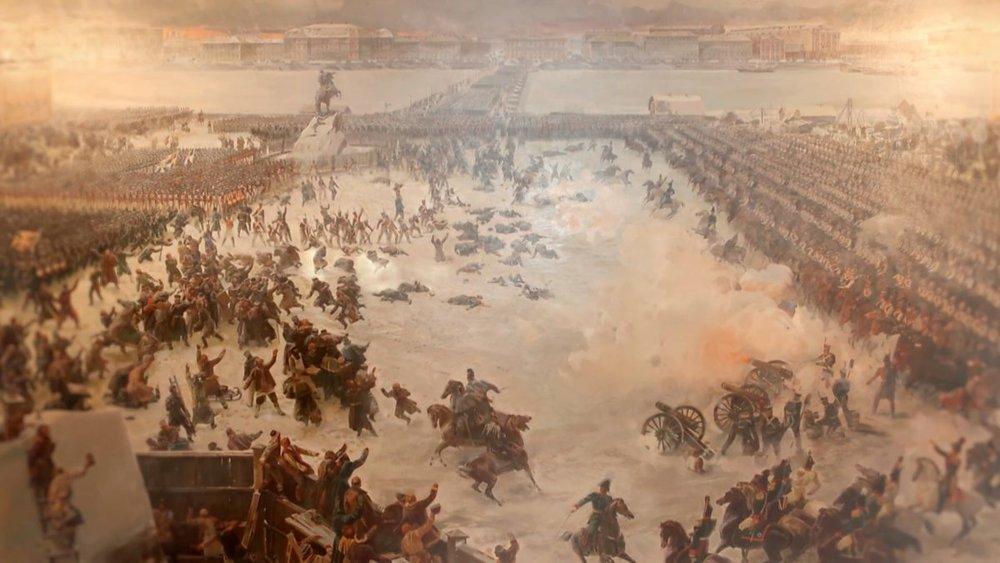 Momento del ataque de la artillería