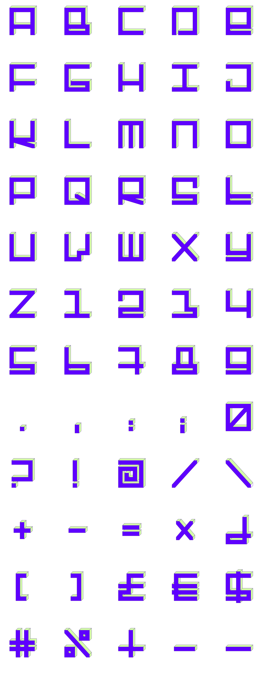 vlevle-gamatik-typography-3D