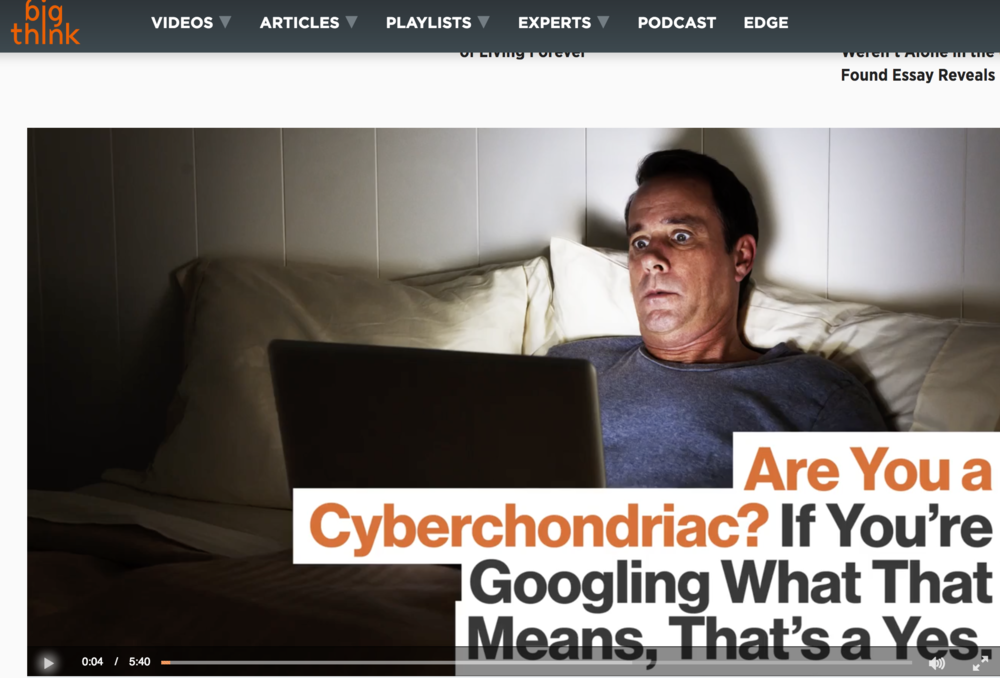 Big Think: Dr Mary Aiken discusses Cyberchondria