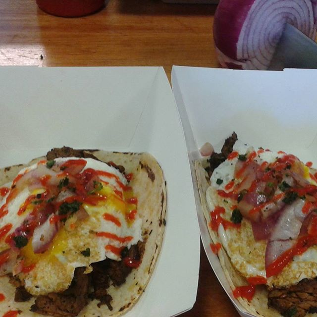 ASK ABOUT OUR #steak&eggstaco special #vaxtaco #foodpornshare #foodies