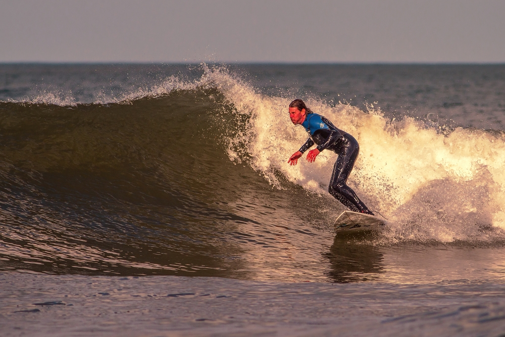 Surfer at Llangrannog Beach #1