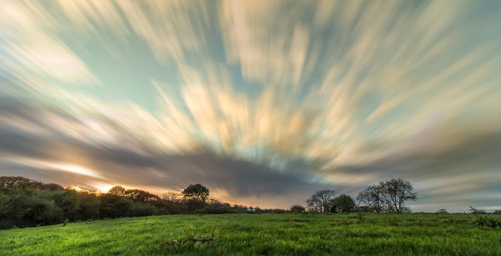 Penrhiwgaled farmlandscape (long exposure effect)