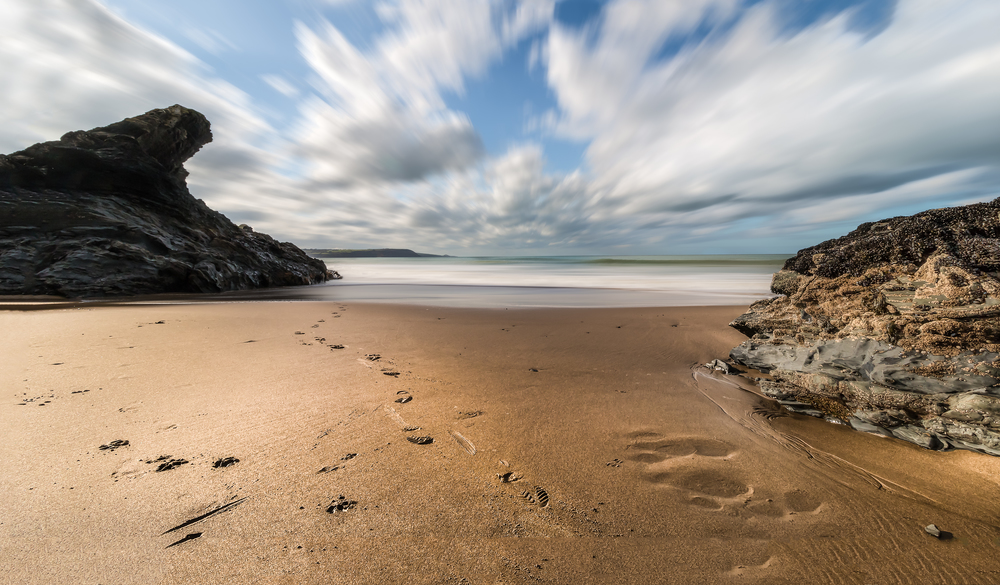 Llangrannog Beach (long exposure effect)