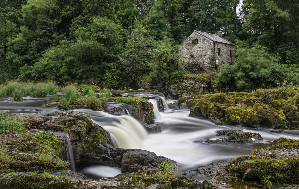 The river falls and old mill at Cenarth