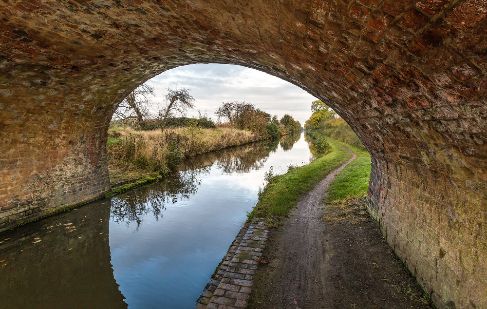 Under the canal bridge
