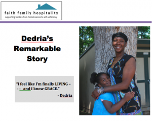 Click on the image to read Dedria's inspiring story!