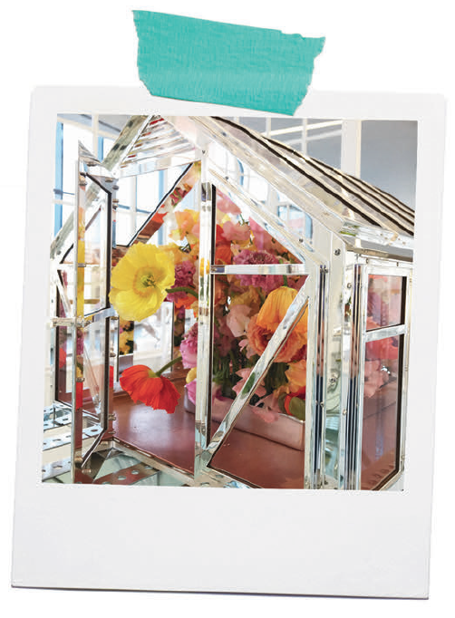 The Greenhouse Project - A one-of-a-kind, sterling silver tabletop greenhouse was the icon of Tiffany's Spring Home Collection. We asked four women artists to create a work of art with the greenhouse as its centerpiece. The results were pure magic.