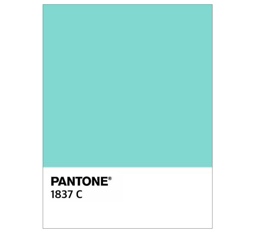 Tiffany Blue - In my early days at Tiffany, the iconic, blue came in many shades. We worked with the color experts to develop Pantone 1837, named after the year of Tiffany's founding.