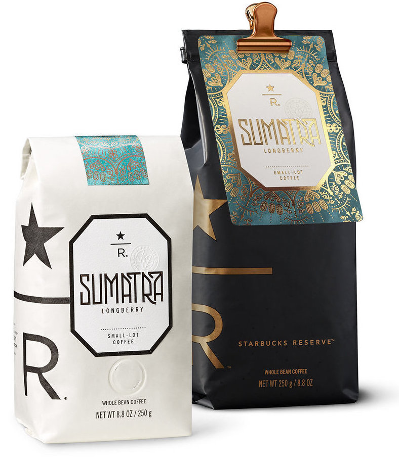 Local flavor - Simple and elegant bags allowed labels representing the coffee's place of origin to entice the eye, while allowing a modular system that was easily customized.