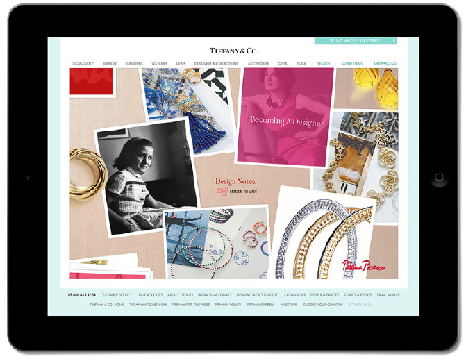 Bold artistry - This site showcased Paloma Picasso's collections, inspirations, and musings in her own voice.