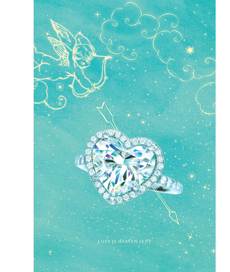 Heavenly love - In the sea of red hearts that makes up Valentine's Day marketing, Tiffany looked to the skies and their iconic blue to celebrate love and stand out from the crowd.