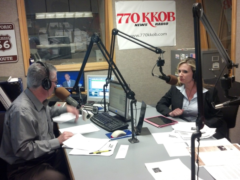 2014 LS Anne Kain and Scott Stigler at 770KKOB.jpg