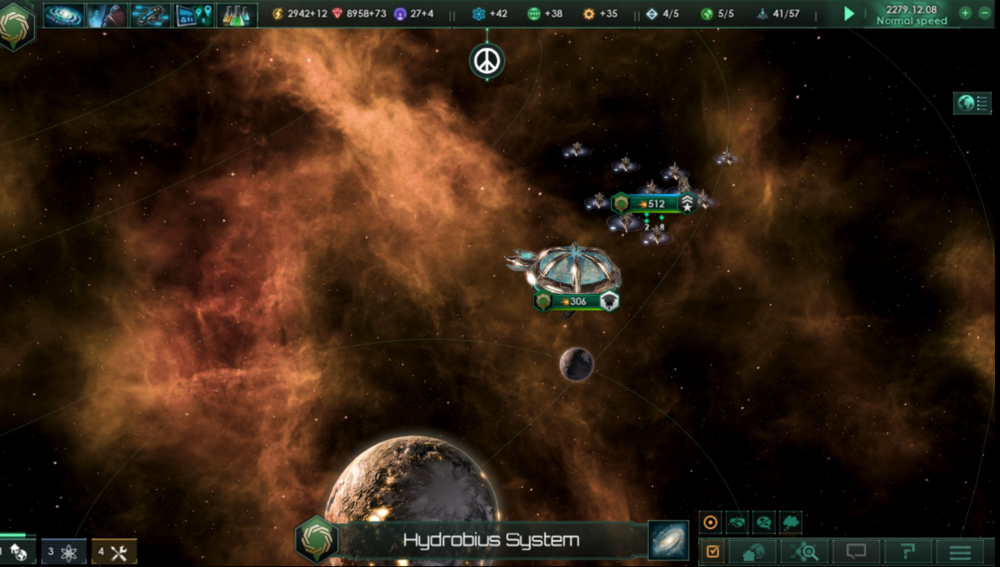The graphics aren't half bad in  Stellaris  either...
