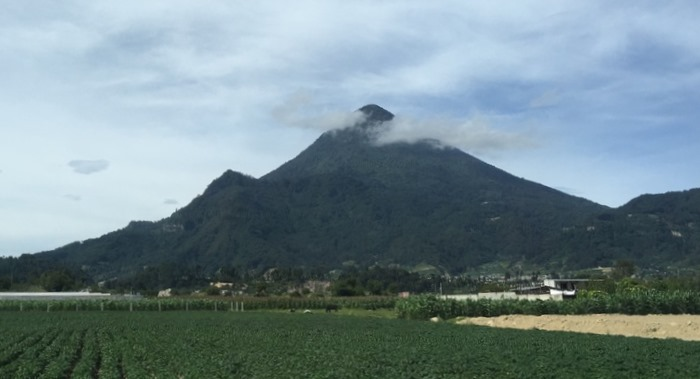 View of the Volcano, Santa Maria, from the community of Candelaria
