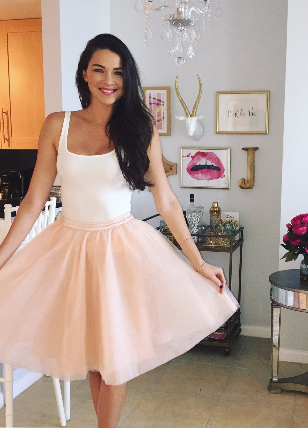 pink tulle tutu skirt birthday girls lunch bridal shower hey any opportunity to wear a tutu you need to take advantage
