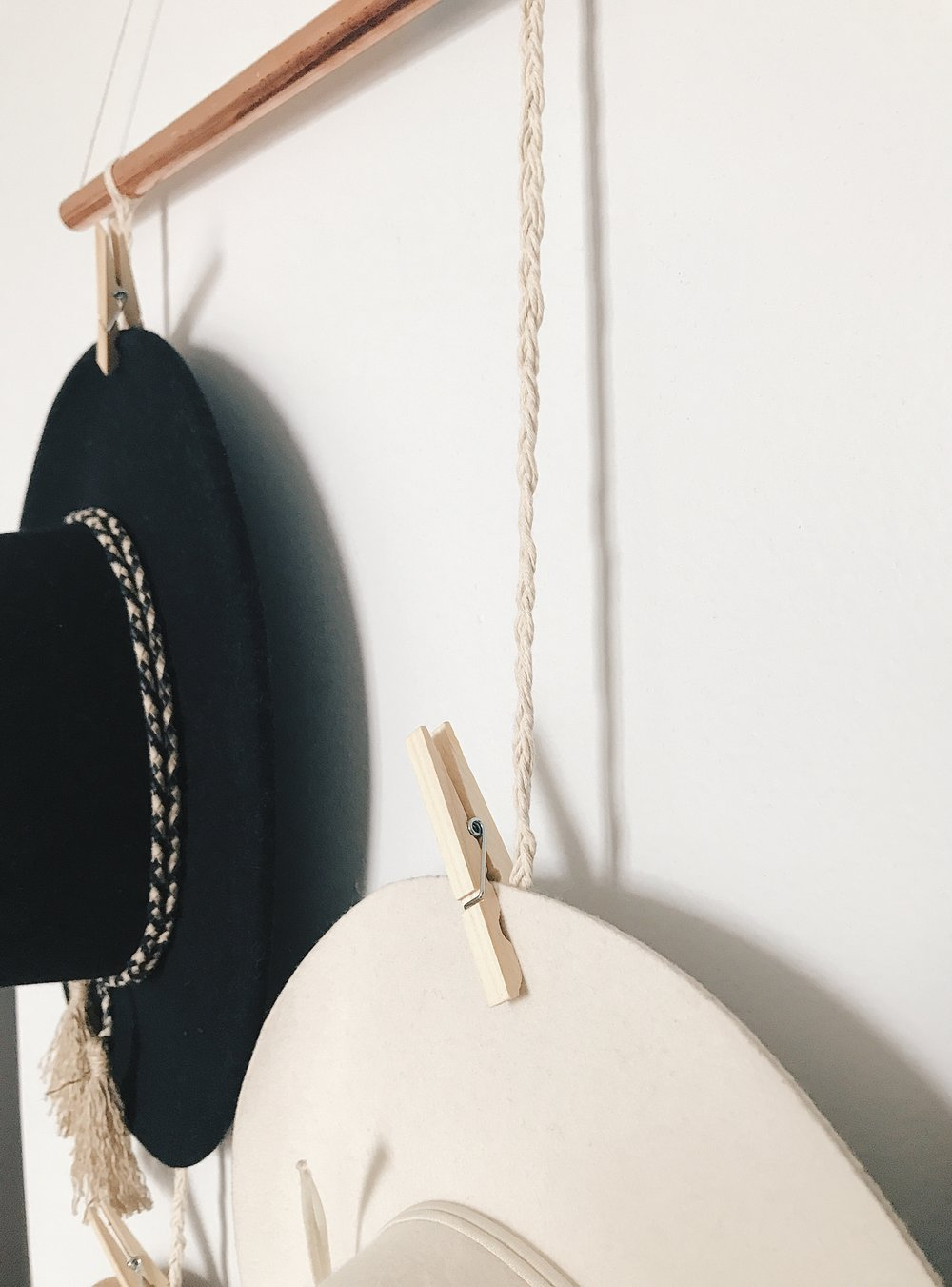 DIY copper hanging hat rack.JPG