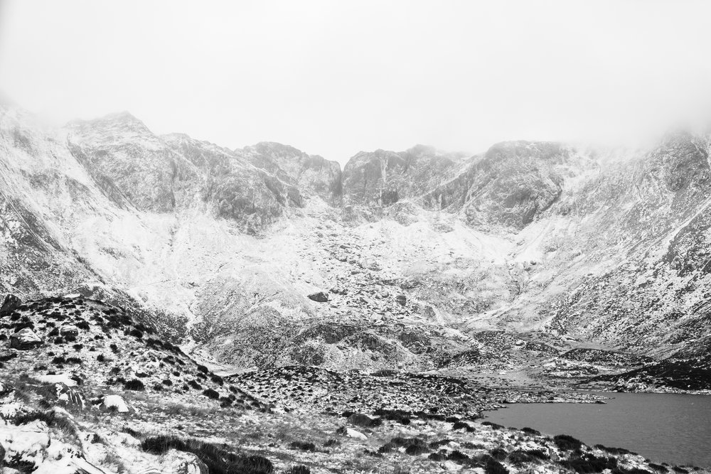 Cwm Idwal and The Devils Kitchen at the back