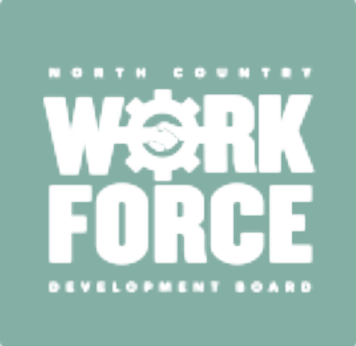 The   North Country Work Force Development Board   provides the needed resources needed to train and engage interns and staff in skills that broaden the scope of work and trade offered by the Hub On The Hill.
