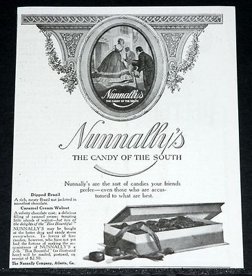 1919 Nunnally's Candy print advertisement - photo courtesy of WorthPoint