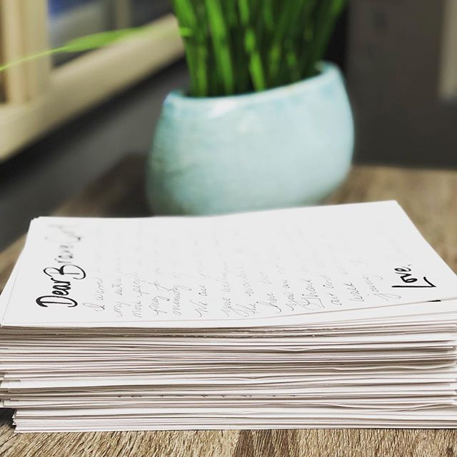 Look at this stack of letters!! All of our amazing supporters at the Spring Brunch Fundraiser wrote hand written notes to our clients! What an amazing support system we have in this community! #fyndoutfreepregnancy #fyndoutfree #pregnancy #dearbravegirl #communitysupport