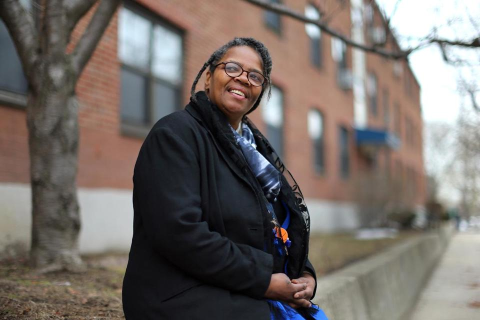 JOHN TLUMACKI/GLOBE STAFF  Betty Carrington sees hope in the plan to add market-rate units to the Bunker Hill public housing complex. She leads a tenant task force.