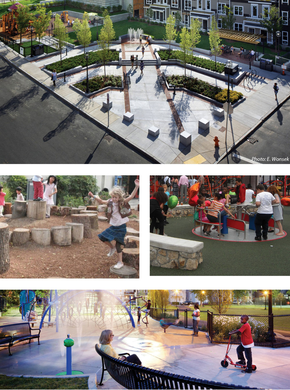 "Concept ideas for the ""Bunker Hill Square"" on Monument Street."