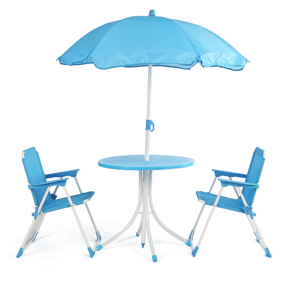 Sunrise Patio Table With Umbrella U0026 2 Chairs
